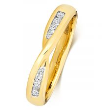 Diamond Set Bow Wedding Ring