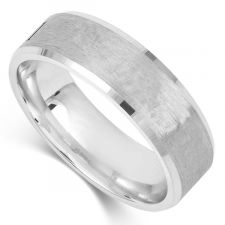 Bevelled Court Wedding Ring