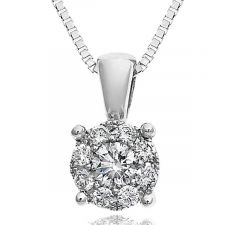 Starburst Diamond Necklace 1/10ct