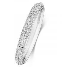 Pave Full Set Diamond Wedding Ring 0.60ct