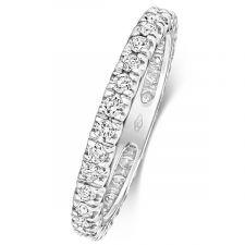 18ct White Gold 2.5mm Full Set Diamond Ring 0.60ct