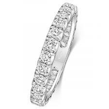 18ct 2.9mm 100% Set Diamond Ring 1.05ct