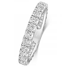 Platinum 2.5mm Full Set Diamond Ring 0.60ct