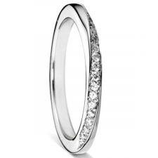 Platinum 2mm Twisted Diamond Ring 0.13ct