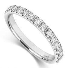 Micro Set 2mm Diamond Wedding Ring 0.25ct