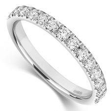 Micro Set 2.6mm Diamond Ring 0.50ct