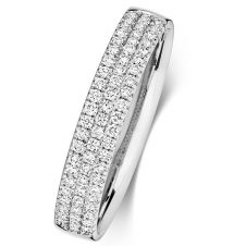 18ct 3 Row Diamond Ring 3.6mm  0.34ct